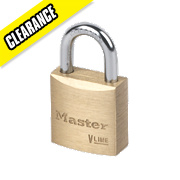 Master Lock Brass Padlock 20mm